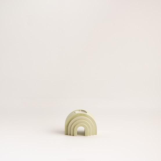 Bougeoir arche finition marbre - vert olive - Design : Extra&ordinary Design