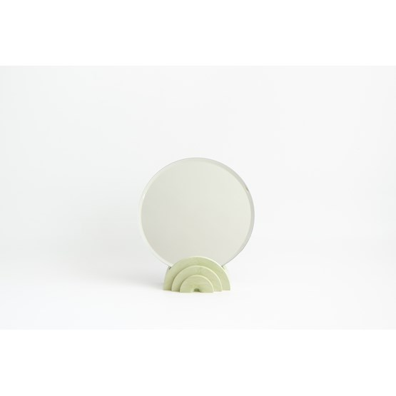 Marble finish tabletop mirror - olive green - Design : Extra&ordinary Design