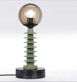 Lampe à poser GLO#14 - vert & noir