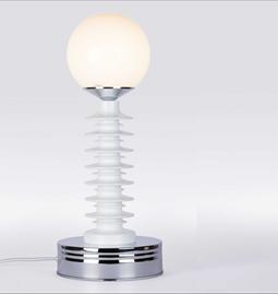 Lampe à poser GLO#16 - blanc & chrome