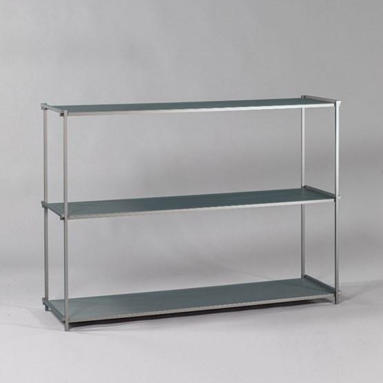 Regula console table - grey neutral finish - Design : L'Alufacture