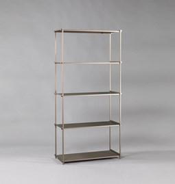 Regula bookshelf - métal tanné finish