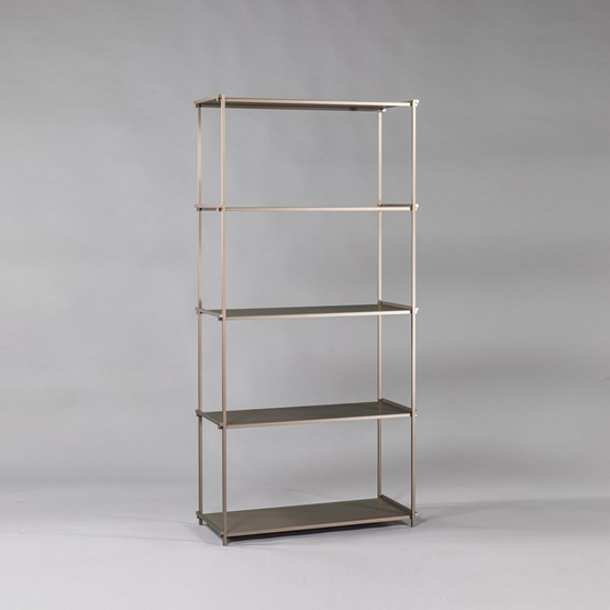 Regula bookshelf - métal tanné finish - Design : L'Alufacture