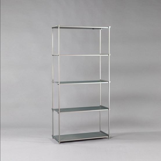 Regula bookshelf - gris neutral finish - Design : L'Alufacture