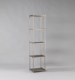 Bibliothèque colonne Regula - Finition Métal Tanné