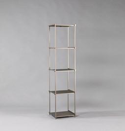 Regula column bookshelf - métal tanné finish