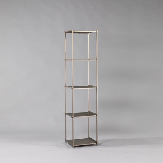 Regula column bookshelf - métal tanné finish - Design : L'Alufacture