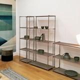 Regula column bookshelf - métal tanné finish 4
