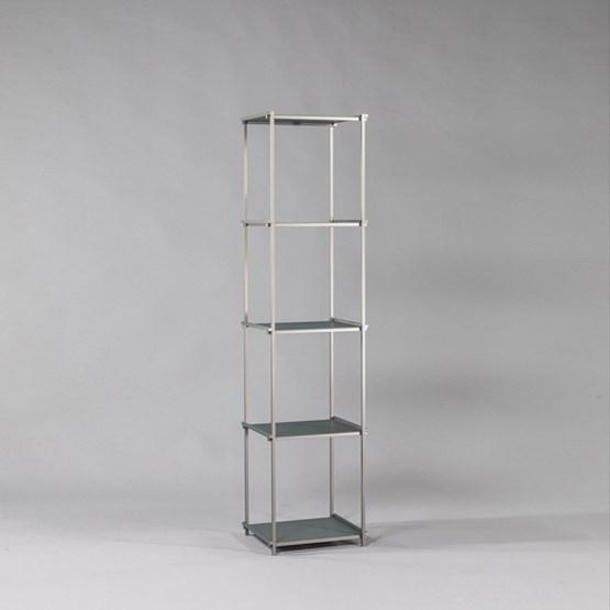 Bibliothèque colonne Regula - Finition Gris Neutral - Design : L'Alufacture