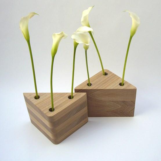 Duo de vases TRAMEZZINI - orme naturel - Design : Beatrix Li-Chin Loos