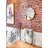 LOOK standing mirror & ladder - clear finish 4
