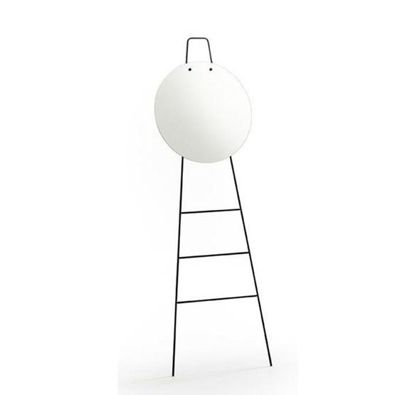LOOK standing mirror & ladder - clear finish - Design : Glassvariations