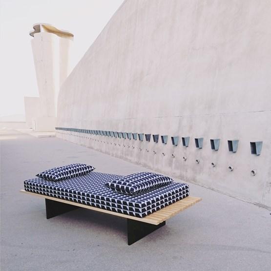 Concrete Landscape BENCH - Design : KVP - Textile Design