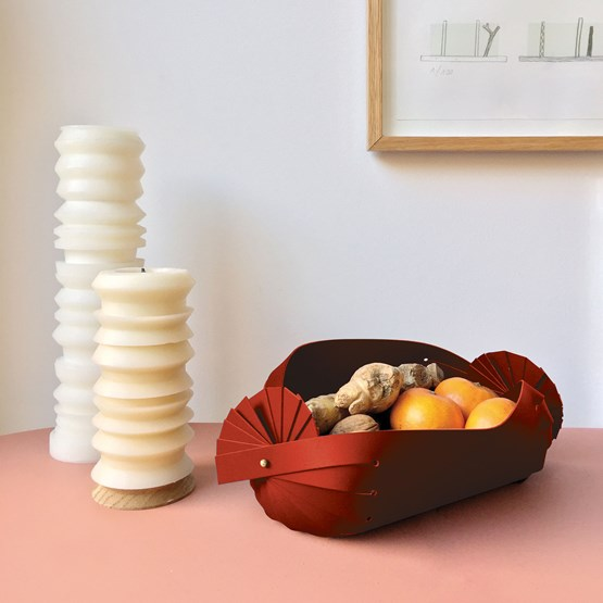 CANDY leather basket - Designerbox - Copy - Design : Elise Fouin