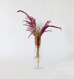Demi-vase mimo - modèle 1 - ambre transparent