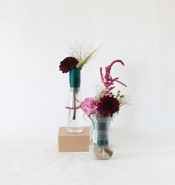 Half vase mimo - model 1+2 - green emerald
