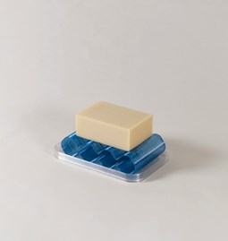 Soap dish Álvaro - transparent blue