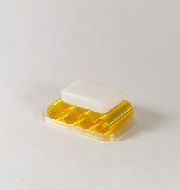 Soap dish Álvaro - transparent yellow