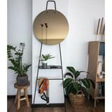 LOOK standing mirror with shelf - bronze finish 3
