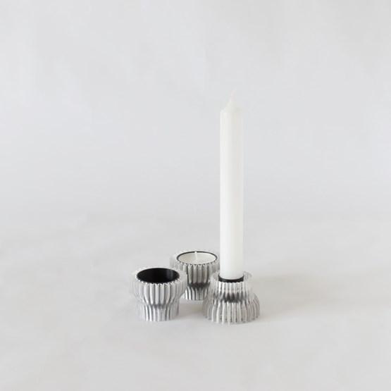 Double candle holders 2.20 - black - Design : Warren & Laetitia