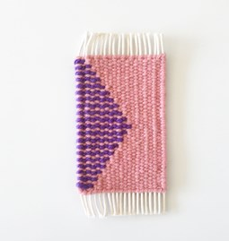 Micro handwoven wall rug - pink and purple