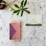 Micro handwoven wall rug - pink and purple 3