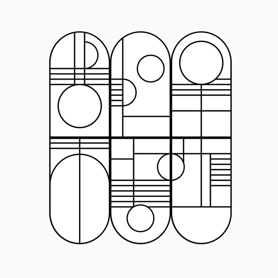 Panneaux muraux BAUHAUS - Designerbox - Design : Coco Brun