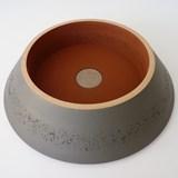 Box PAGODA - two-tone oxide grey / red ochre 3