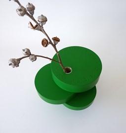Sculpture-vase BONSAI EQUILIBRIUM - lacquered medium green