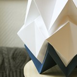 Small table lamp in paper HIKARI - blue and white 5