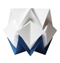 Lampe de table HIKARI en papier / taille S - blanc et bleu
