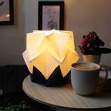 Small table lamp in paper HIKARI - blue and white 6