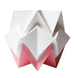 Lampe de table HIKARI en papier / taille S - blanc et rose