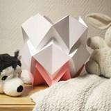 Lampe de table HIKARI en papier / taille S - blanc et rose 7