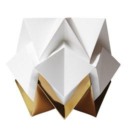 Lampe de table HIKARI en papier / taille S - blanc et or