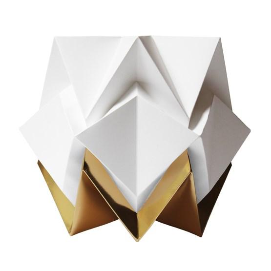 Lampe de table HIKARI en papier / taille S - blanc et or - Design : TEDZUKURI ATELIER