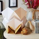 Lampe de table HIKARI en papier / taille S - blanc et or 4