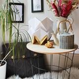 Lampe de table HIKARI en papier / taille S - blanc et or 3