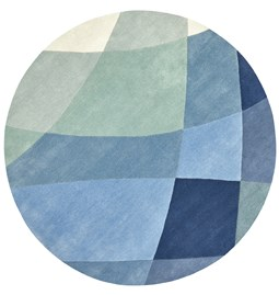 Tapis rond Rhythmic Tides - Indigo