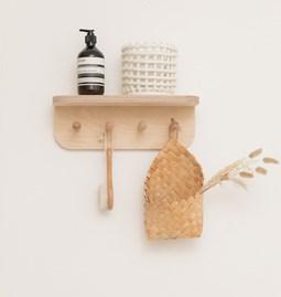 MIMOSA wall shelf with hooks
