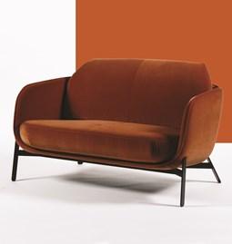 Canapé 2 places HYPANIS - rouge cuivre