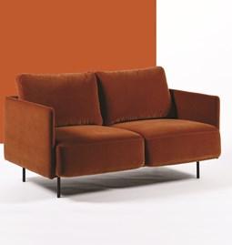 Canapé 2 places LACUS - rouge cuivre