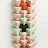 Wooden toy Triada Solar - pastel green 5