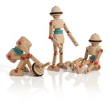 Wooden toy Robotop, the Spinning top Robot 3