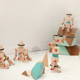Wooden toy Robotop, the Spinning top Robot 6