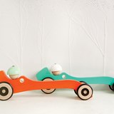Wooden toy Autotop - turquoise 2