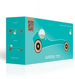 Wooden toy Autotop - turquoise