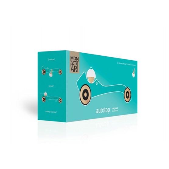 Wooden toy Autotop - turquoise - Design : Mon Petit Art