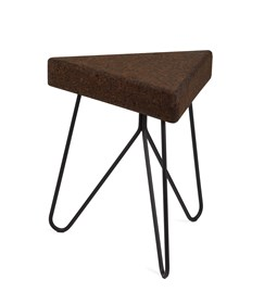 TRES | stool or table -  dark cork and black legs