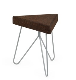 TRES | stool or table -  dark cork and grey legs